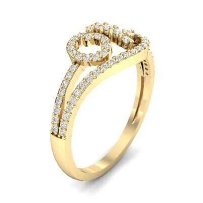 Pave Sonata Diamond Engagement Ring (0.38 CTW)