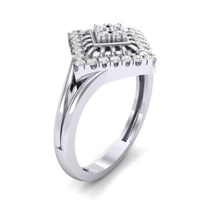 Square Halo Spokes Diamond Ring (0.19 CTW)