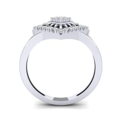 Square Halo Spokes Diamond Ring (0.19 CTW) Side View