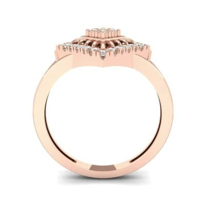 Square Halo Spokes Diamond Ring (0.19 CTW) Side View