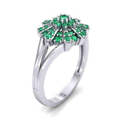 Starburst Emerald Cluster Ring (0.33 CTW) Perspective View