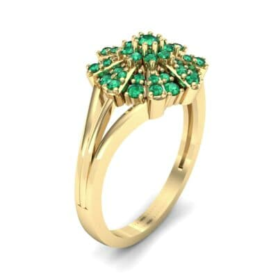 Starburst Emerald Cluster Ring (0.33 CTW)