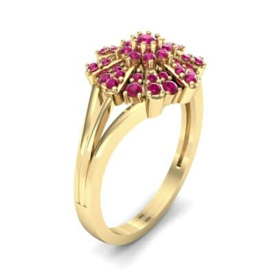 Starburst Ruby Cluster Ring (0.33 CTW) Perspective View