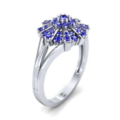 Starburst Blue Sapphire Cluster Ring (0.33 CTW)