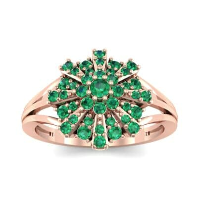 Starburst Emerald Cluster Ring (0.33 CTW) Top Dynamic View