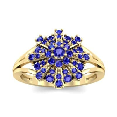 Starburst Blue Sapphire Cluster Ring (0.33 CTW) Top Dynamic View