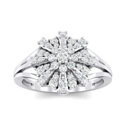 Starburst Diamond Cluster Ring (0.33 CTW) Top Dynamic View