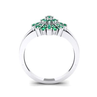Starburst Emerald Cluster Ring (0.33 CTW) Side View