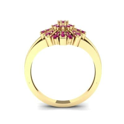Starburst Ruby Cluster Ring (0.33 CTW) Side View