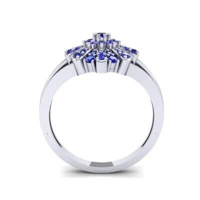 Starburst Blue Sapphire Cluster Ring (0.33 CTW) Side View