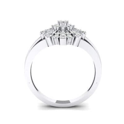 Starburst Crystal Cluster Ring (0.33 CTW) Side View