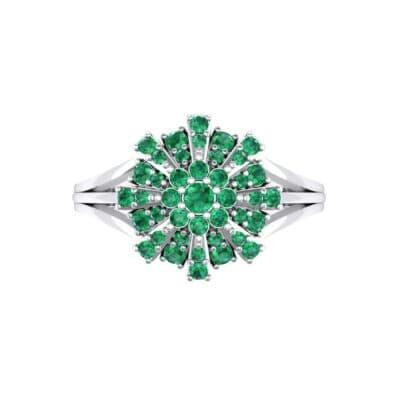 Starburst Emerald Cluster Ring (0.33 CTW) Top Flat View