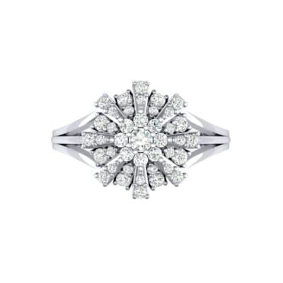 Starburst Diamond Cluster Ring (0.33 CTW) Top Flat View