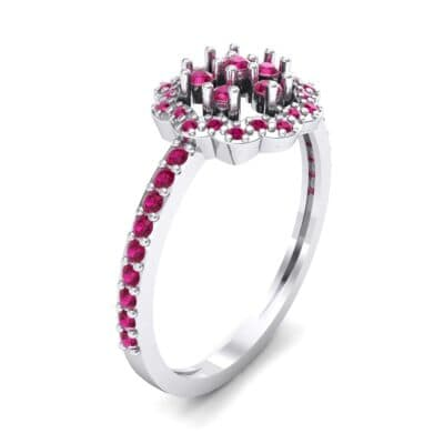 Pave Posy Ruby Ring (0.31 CTW)
