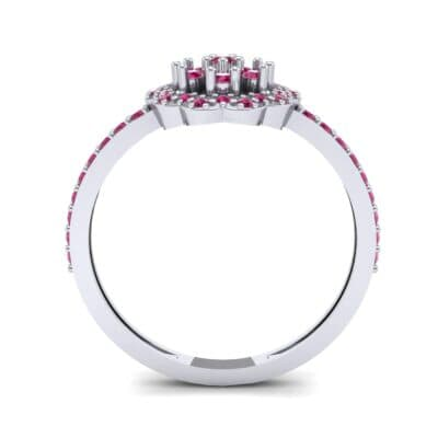 Pave Posy Ruby Ring (0.31 CTW) Side View