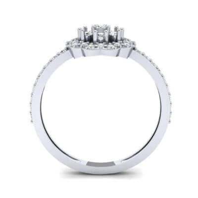 Pave Posy Diamond Ring (0.31 CTW) Side View