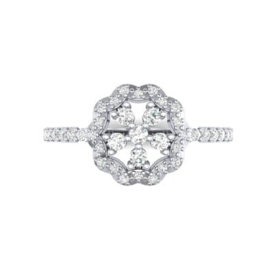 Pave Posy Diamond Ring (0.31 CTW) Top Flat View