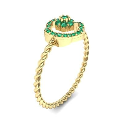 Halo Flower Emerald Cluster Ring (0.17 CTW)