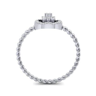 Halo Flower Diamond Cluster Ring (0.17 CTW) Side View