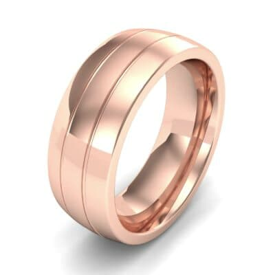 Wide Double Groove Ring (0 CTW)