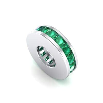 Princess-Cut Emerald Spacer Bead (0.72 CTW) Perspective View