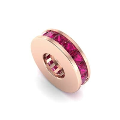 Princess-Cut Ruby Spacer Bead (0.72 CTW) Perspective View