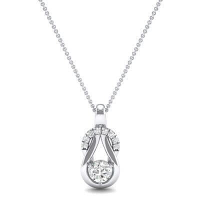 Pave Knot Diamond Solitaire Pendant (0.57 CTW) Top Dynamic View