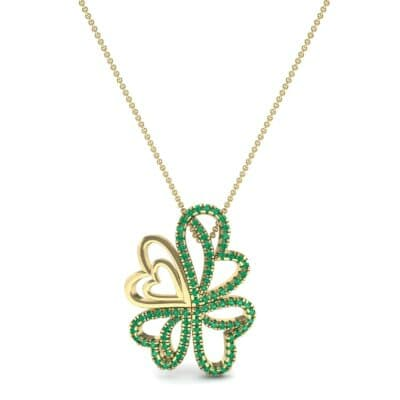 Clover Hearts Emerald Pendant (1.05 CTW) Top Dynamic View