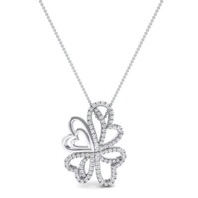Clover Hearts Crystal Pendant (1.05 CTW) Top Dynamic View