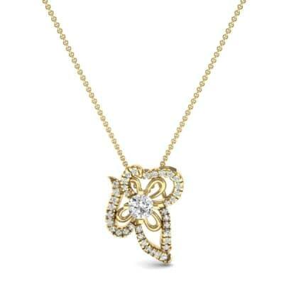 Petals Pave Diamond Pendant (0.54 CTW) Top Dynamic View