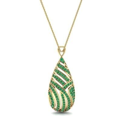 Teardrop Swirl Emerald Pendant (0.86 CTW) Top Dynamic View