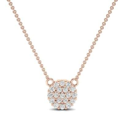 Pave Circle Diamond Pendant (0.31 CTW) Top Dynamic View