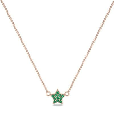 Pave Star Emerald Pendant (0.135 CTW) Perspective View