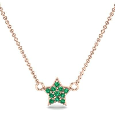 Pave Star Emerald Pendant (0.135 CTW) Top Dynamic View