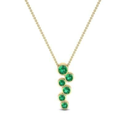 Bezel-Set Emerald Journey Pendant (0.88 CTW) Top Dynamic View