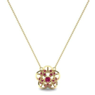 Cut Out Flower Ruby Pendant (0.49 CTW) Perspective View