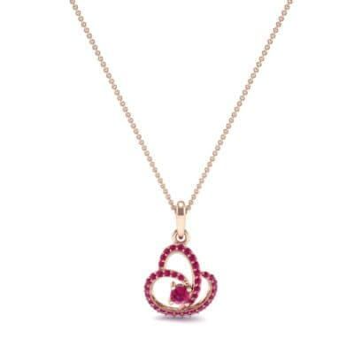 Rolling Curve Ruby Pendant (0.7 CTW) Perspective View