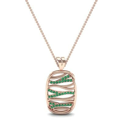 Rivers Emerald Tablet Pendant (0.28 CTW) Top Dynamic View