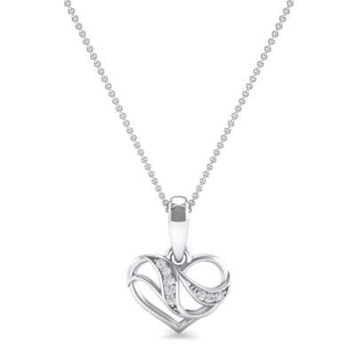 Flowing Heart Crystal Pendant (0 CTW) Top Dynamic View