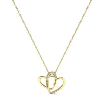 Interlocking Heart Diamond Pendant (0.06 CTW) Perspective View
