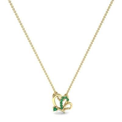 Butterfly Emerald Pendant (0.07 CTW) Perspective View