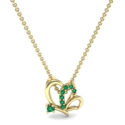 Butterfly Emerald Pendant (0.07 CTW) Top Dynamic View