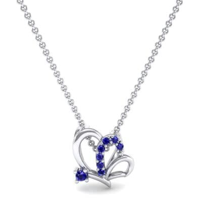 Butterfly Blue Sapphire Pendant (0.07 CTW) Top Dynamic View