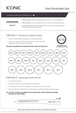 Iconic Ring Sizer Guide