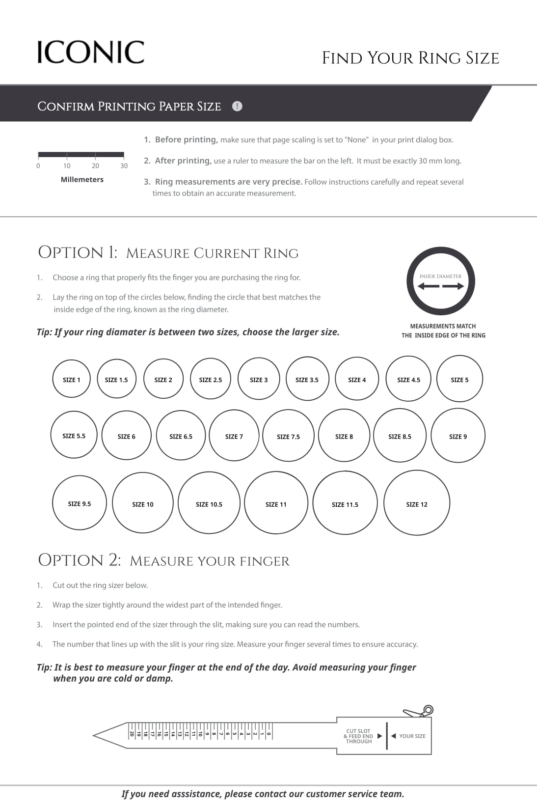 Ring Sizer Guide